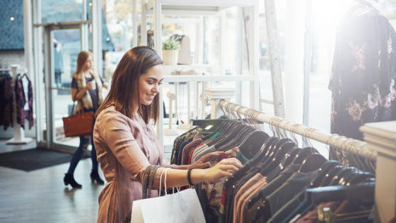 Young woman shopping