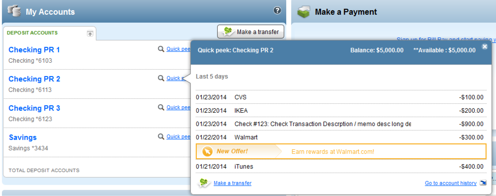 purchase rewards transaction history